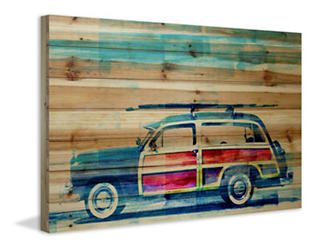 Surf Day 40x60 Wood Art, , large