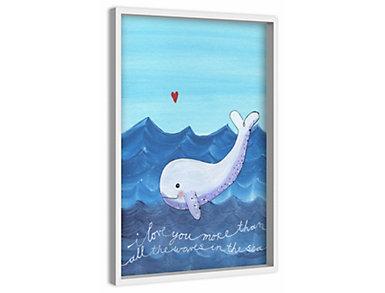 Blue Whale 30x20 Canvas Art, , large