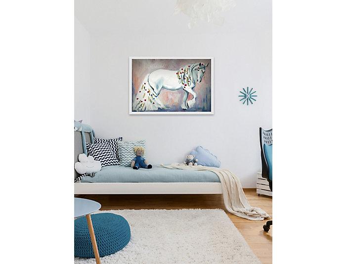 white unicorn 20x30 canvas art