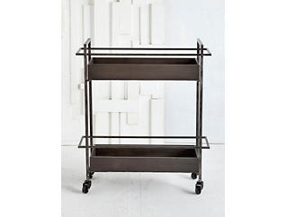 Rectangular Shelf Bar Cart, , large