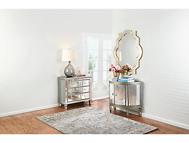 Harmony Mirrored Hall Chest, , large