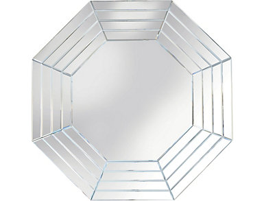 Octagon Framed Mirror, , large