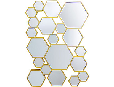 Fizzy Gold Mirror, , large