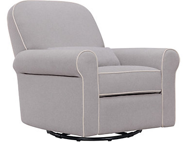 Ruby Gray Recliner and Glider, , large