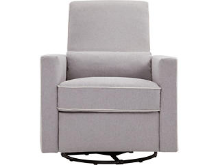 Piper Gray and Cream Recliner, , large
