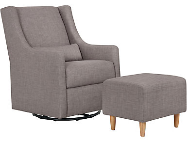Toco Swivel Glider and Ottoman, , large