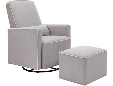 Olive Glider and Ottoman, , large