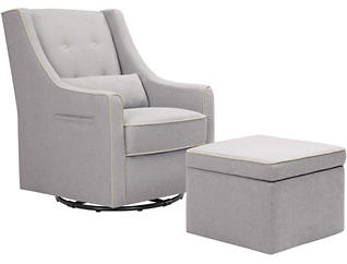 Owen Gray Glider & Ottoman, , large