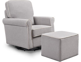 Maya Swivel Glider and Ottoman, , large