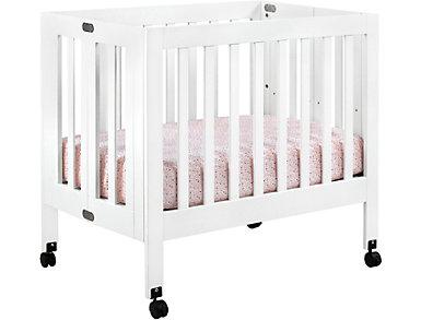 Origami White Mini Crib, , large