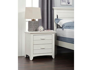 Crestwood White Nightstand, , large