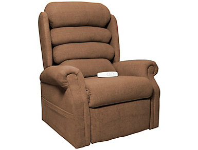 Gladstone Lift Chair Recliner, Brown, Brown, large