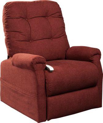 Follett Lift Chair, Beige, Red, swatch