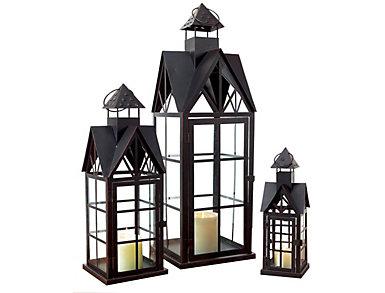 Set of 3 Gable Lanterns, , large