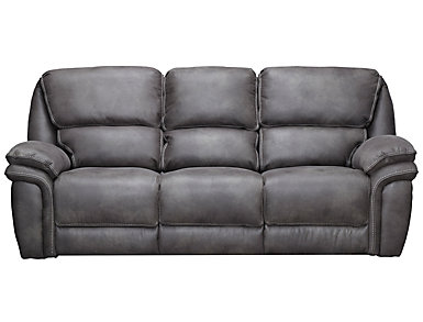 Ero Grey Manual Reclining Sofa, , large