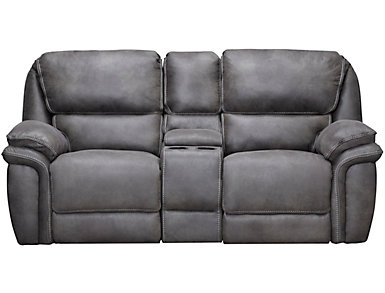 Ero Grey Power Reclining Console Loveseat, , large