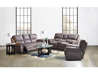 Ero Grey Power Reclining Sofa, , large
