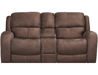 Gibson Reclining Loveseat, Chocolate, , large