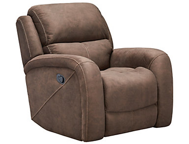 Gibson Manual Recliner, Brown, , large