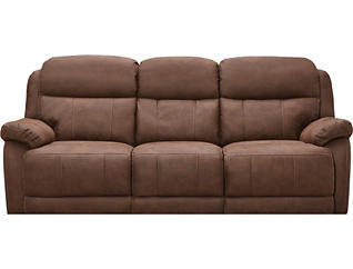 Rocky Reclining Sofa, Brown, , large
