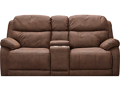 Power Reclining Con. Loveseat, , large
