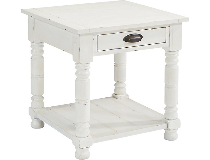 Bobbin square end table bobbin square end table white large watchthetrailerfo