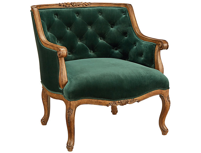 Bloom Emerald Velvet Accent Chair, , large