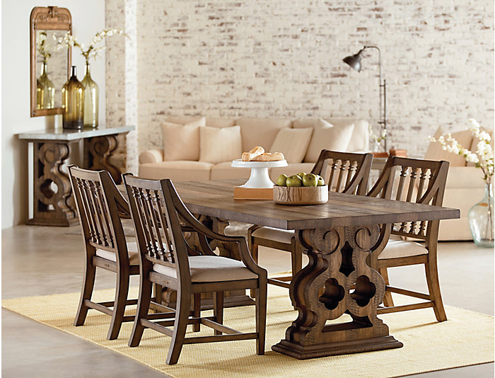 Double Pedestal Dining Table, , large
