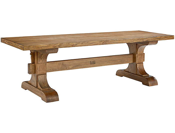 Farmhouse Keyed Trestle Table, , large