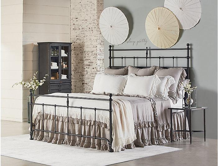 Trellis King Metal Bed, , large