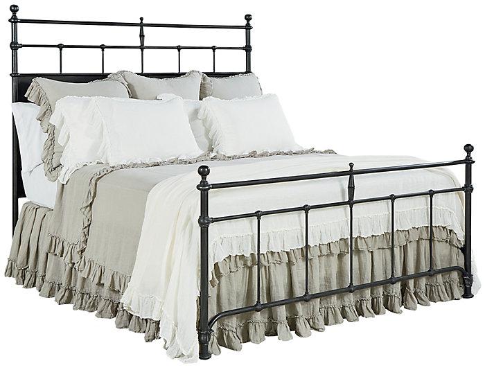 Trellis Queen Metal Bed, , large