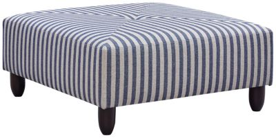 Stripes Cocktail Ottoman, Blue, swatch