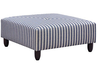 Stripes Cocktail Ottoman, Blue, large