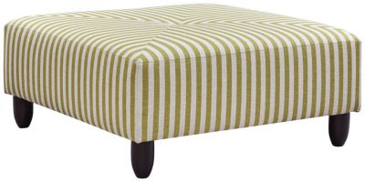 Stripes Cocktail Ottoman, Chartreuse, swatch
