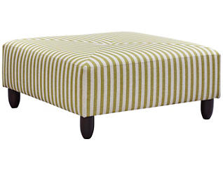Stripes Cocktail Ottoman, Chartreuse, large