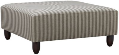Stripes Cocktail Ottoman, Granite, swatch