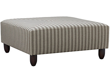 Stripes Cocktail Ottoman, Granite, large