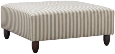 Stripes Cocktail Ottoman, Ivory, swatch