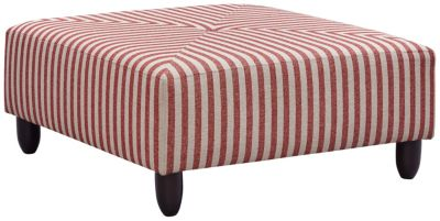 Stripes Cocktail Ottoman, Red, swatch