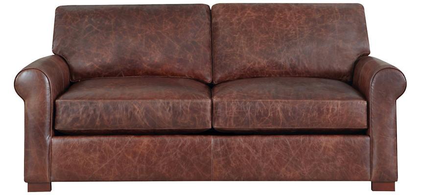 Milo Leather Apartment Sofa | Art Van Home