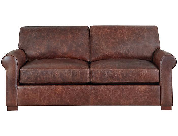 Milo Leather Apartment Sofa   Art Van Home