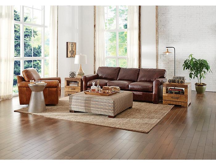 Milo Leather Sofa, Classic Brown, , large