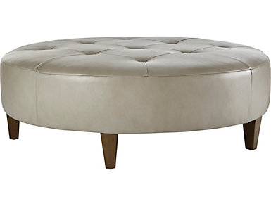 NB2 Leather Cocktail Ottoman, , large
