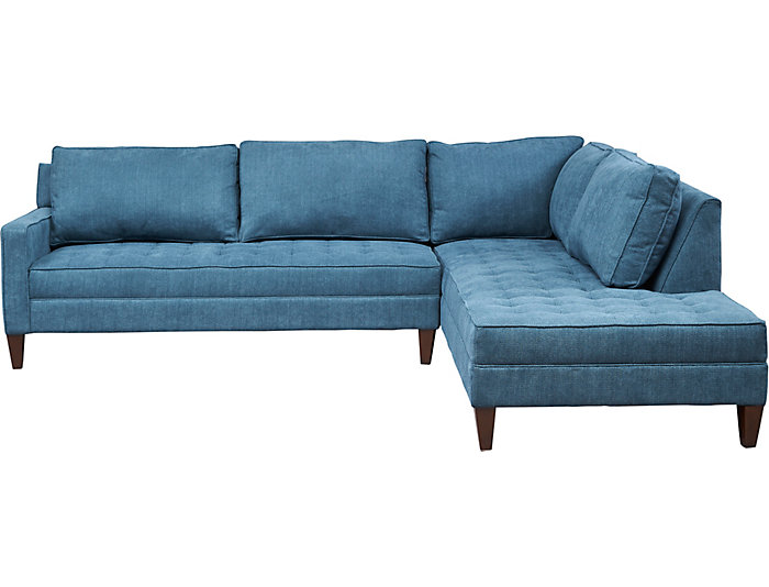 Superbe ... Dune II 2 Piece Left Arm Facing Loveseat Sectional, Teal, , Large ...