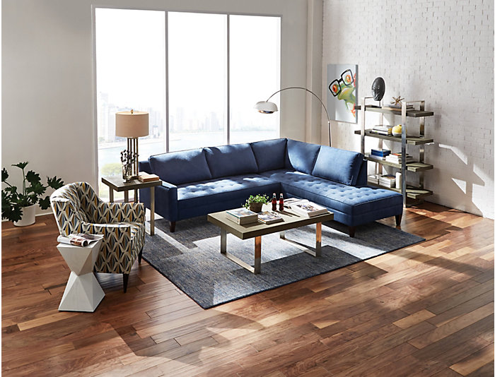 Dune II 2 Piece Left-Arm Facing Loveseat Sectional, Teal, , large