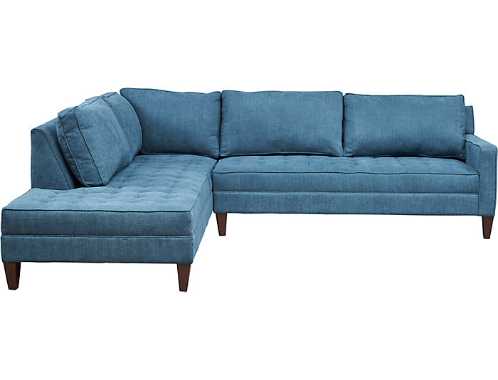 Dune II 2 Piece Right-Arm Facing Loveseat Sectional, Teal, , large
