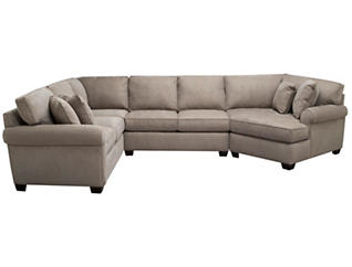 Marisol III 3-Piece Right-Arm Facing Cuddler Sectional, Light Grey, , large