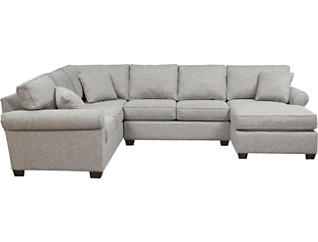 Outstanding Diamond 3 Piece Dual Chaise Sectional Pabps2019 Chair Design Images Pabps2019Com