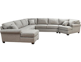 Marisol IV 5 Piece Left-Arm Facing Theatre Sectional, , large
