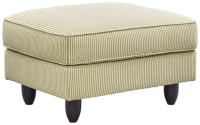 Stripes Ottoman, Chartreuse, swatch
